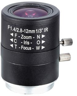 Obiektyw Mpix LC-M13VM2812IRD - Obiektywy megapikselowe